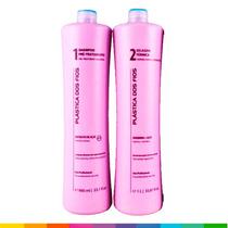 Plastica Dos Fios Selagem Térmica Shampoo + Ativo (2 X 1l.)