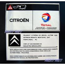 Adesivo Tecnico Motor Peugeot 206 207 208 Citroen C3 C4 C5