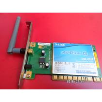 Placa De Rede Wireless Pci D-link Airplus G - Dwl-g510 Usado