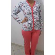 Pijamas Longo Adulto Feminino Peluciado