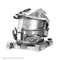 Capacete Master Chief Halo - 3d Metal Model Kit - Fascina...