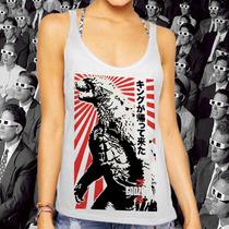 Regata Feminina: Godzilla - Ícone Japonês