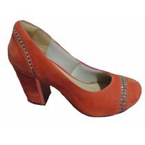 Sapato Salto Baixo Feminino Fechado