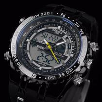Relógio Militar Infantary Aviador Anadigi Grande 53mm