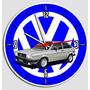 Relógio De Parede Decorativo Gol Quadrado - Vw Carro Antigo