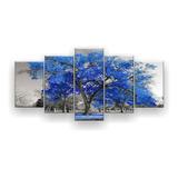 Quadro Decorativo Árvore Grande Várias Cores 129x61 5pc Sala