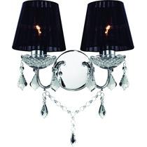 Luminária Arandela De Cristal Bronzearte Reflexo 2 Luzes