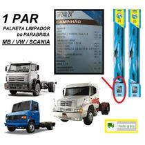 Par Palheta Limpapador Parabrisa Caminhão Mb Vw Scania 112