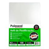 Polaseal Plástico Para Plastificação A3 303x426 0,05mm 100un