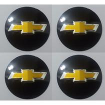 Emblemas Chevrolet Aluminío Calota Ou Roda 55 Mm + Brinde