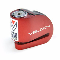 Trava Disco Moto Com Alarme E Led Velock