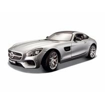 Miniatura De Mercedes Benz Amg Gt Prata 1:18 Maisto 36204