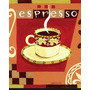 Placa Decoração P/ Cozinha Vintage Xicara Café Oficina Retrô