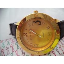 Relógio Teacher Dourado No Leilão Não Perca Arremate !