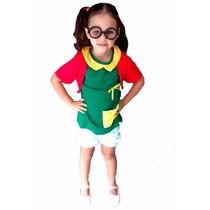 Fantasia Chiquinha Infantil Turma Do Chaves P/ Entrega.