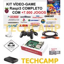 Kit Video Game Multijogos Recalbox Raspberry Pi3 7000 Jogos