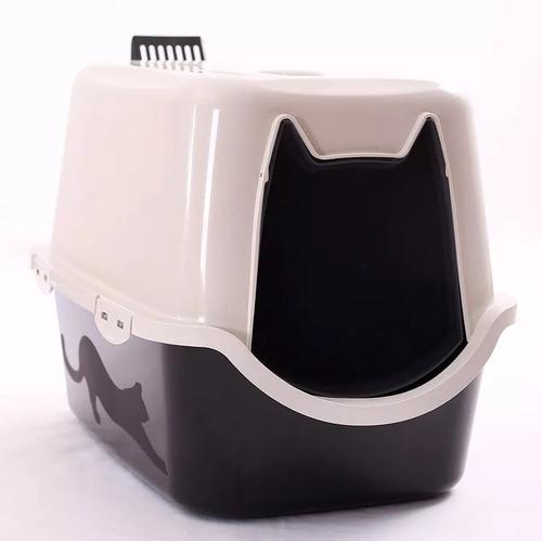 Sanitário Fechado Para Gatos Com Pá E Filtro - 58x40x40