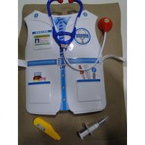Kit Fantasia Medico Doutor Enfermeira Colete Estetoscopio