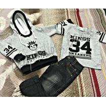 Conjunto Infantil Kings Sneakers Moletom Agasalho