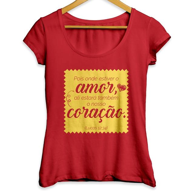 Camisa Feminina Moda Evangelica Amor Camiseta Cristã Gospel em Belo ... 164f00c5ee629