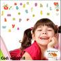 Adesivo De Parede Infantil Letras Alfabeto Will0018