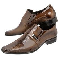 Sapato Social Masculino Gofer Em Couro Verniz- Imperdível!!!