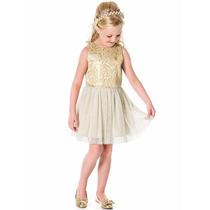 Roupa Infantil Menina - Vestido Festa 4 A 10 Anos