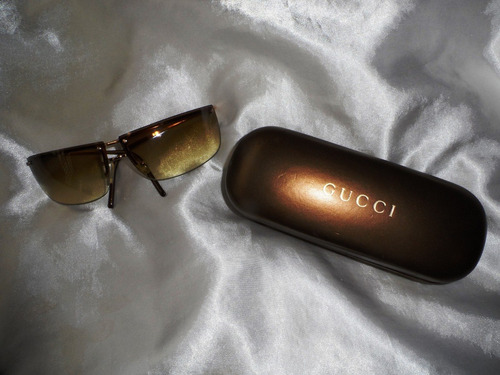 Elegante Óculos Sol Unissex Vintage Banho Ouro Gucci,déc.90 6749debd31