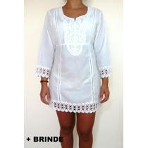 Blusa Vestido Bata Túnica Outono Inverno Verão Índiana