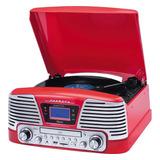Toca Disco Harmony Raveo Grava Bluetooth/cd/fm/usb Vitrola