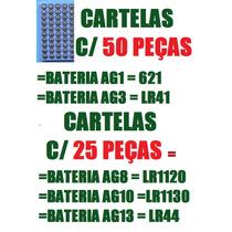 50 Baterias 621 G1 Lr41 G3 Lr1120 G8 Lr1130 G10 Lr44 G13