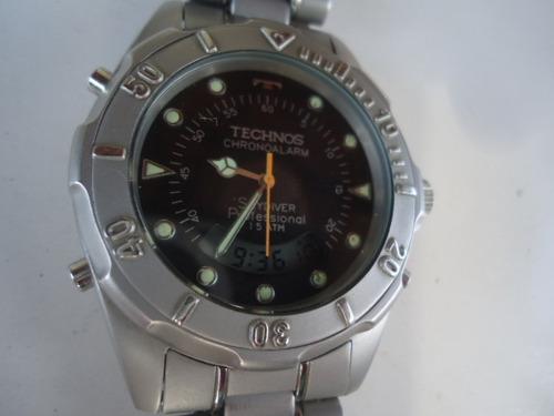 5e9de027467 Relógio Technos Análogo Digital Cronógrafo Alarme Semi Novo - R  222 ...