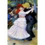 Festa Dança Bougival Homem Mulher Pintor Renoir Tela Repro