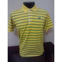 Camiseta Lacoste Gola Polo Listrada -slim- Tamanho 5 - M/g
