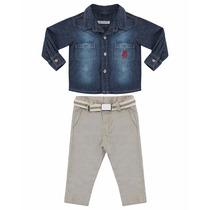 Conjunto Infantil Masculino Sport Fino Tam.m Ref.330
