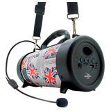 Caixa Som Amplificada Bluetooth Canhão 500w Mp3 Fm Usb Sd P2