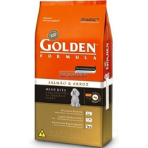 Ração Golden Adulto Mini Bits Salmao & Arroz 15kg Premier
