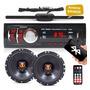 Par Alto Falante Jbl Selenium 6 100w + Radio Mp3 Bluetooth Original