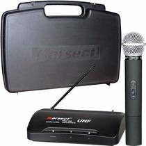 Microfone Sem Fio Karsect Kru200 Mão Profissional Uhf