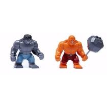 O Hulk E O Coisa Compativel Ao Lego ~7,5cm - 2 Bonecos