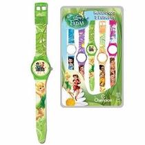 Relógio Infantil Digital Troca Pulseiras Champion Fadas