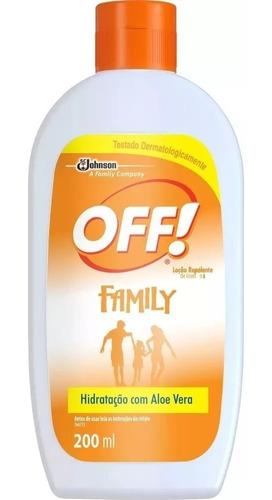 Repelente Off Hidratante Loção Family 200 Ml 5 Unid