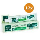 Kit 12 Creme Dental Menta E Melaleuca 90g - Boni Natural