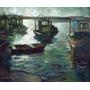 Óleo Tela Quadro Pintura Gravura Decoração Marinha Paisagem