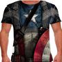 Camiseta Capitão América Traje Masculina