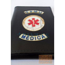 Carteira Em Couro Legítimo Doutora Médica Samu Medicina C79p