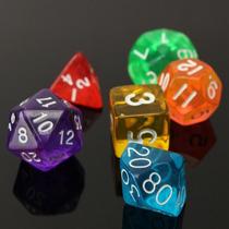 Jogo De 7 Dados Rpg Dungeons And Dragons 07 Pçs/kit Colors