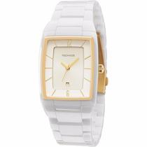 Relógio Technos De Cerâmica Quadrado Branco Gn10ao/1b - 5atm