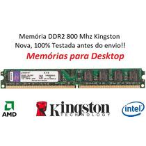 Memória 2 Gb Ddr2 800 Mhz Kingston Kvr800d2n6/2g *lacrada*