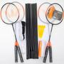 Kit Badminton Vollo Para Jogar 4 Pessoas